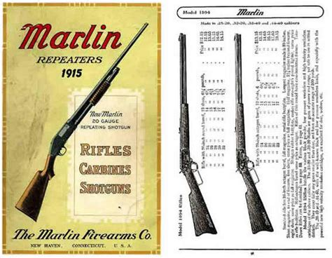 guns ammunition and tackle classic reprint books marlin 1915 firearms company gun catalog for sale at