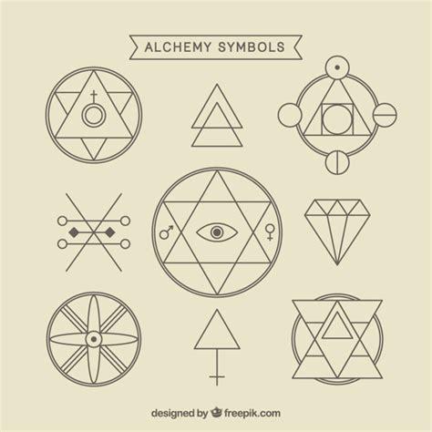 imagenes de simbolos alquimistas variedad de s 237 mbolos de alquimia con contorno descargar