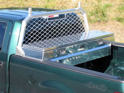 Small Truck Bed Tool Box Single Lid Full Size Cross Body Toolbox Work Truck Toolboxes