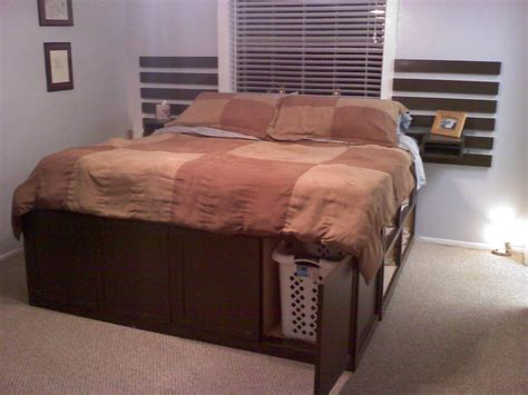 diy king bed frame with storage diy king size platform bed with storage quick woodworking projects