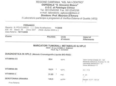referto pap test day hospital gastroenterologico 11 2009