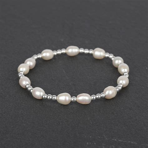 925 Sterling Silver Beaded freshwater pearls and solid 925 sterling silver beaded