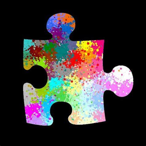 rainbow puzzle rainbow puzzle piece spin art pinterest