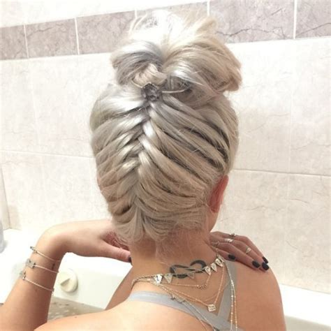 braids abd then hanging down 20 cute upside down french braid ideas