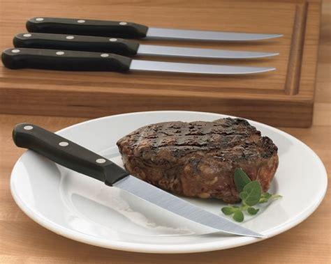 wusthof steak knife set w 252 sthof gourmet 4 steak knife set williams sonoma