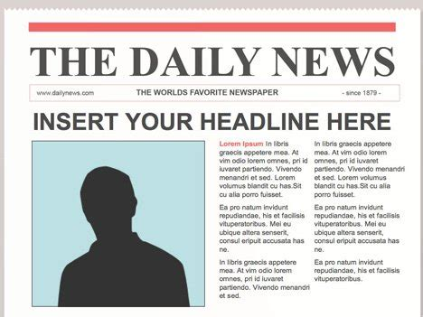 Editable Powerpoint Newspapers News Powerpoint Template