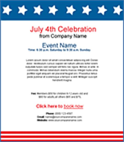 Holiday Email Templates Benchmark Email Happy 4th Of July Email Template