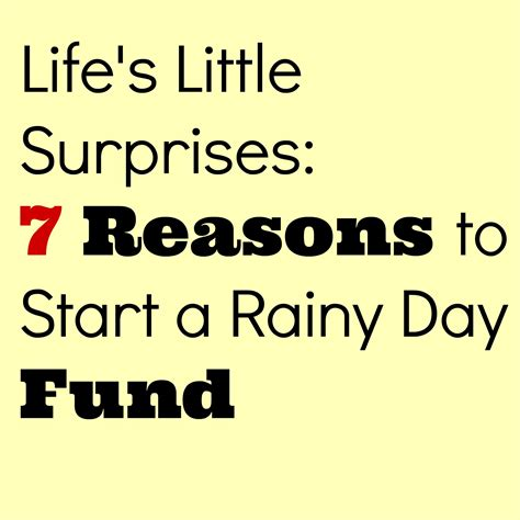 7 Reasons To Start A by S Surprises 7 Reasons To Start A Rainy Day