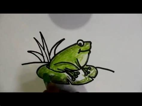 Tutorial Menggambar Katak | cara menggambar katak 2 how to draw a frog for kids