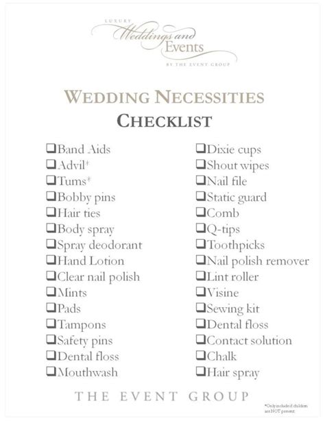 Wedding Checklist Needs by The Wedding Checklist Every And Bridesmaid Needs