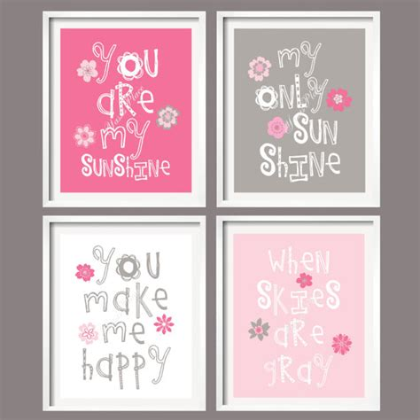 Pink And Gray Nursery Decor Nursery Print You Are My Pink And Grey By Yassisplace