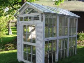 Greenhouse From Salvaged Windows Decor T 225 I Sử Dụng Cửa Sổ S