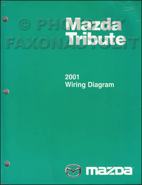 2001 mazda tribute wiring diagram manual original