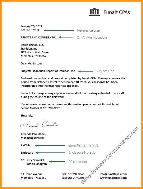 Enclosure Reference Business Letter business letter format enclosure notation letters