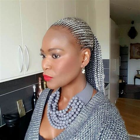 grey hair braid extensions silver grey cornrows braids cornrows hairstyles