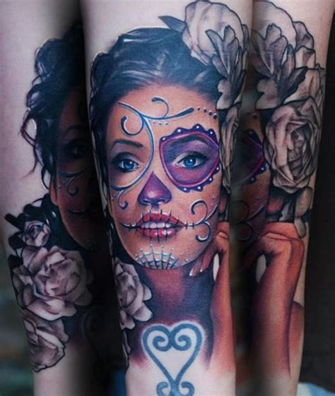 hot girl tattoo 17 best ideas about sugar skull on