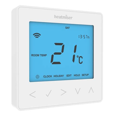 bathroom underfloor heating thermostat heatmiser neostat programmable thermostat glacier white
