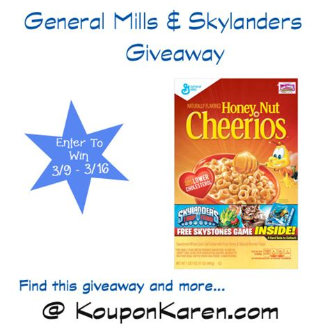 General Mills Giveaway - general mills specially marked boxes with skylanders card game giveaway