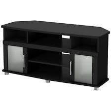 Black Tv Stand With Glass Doors by Tv Stand Glass Doors Ebay