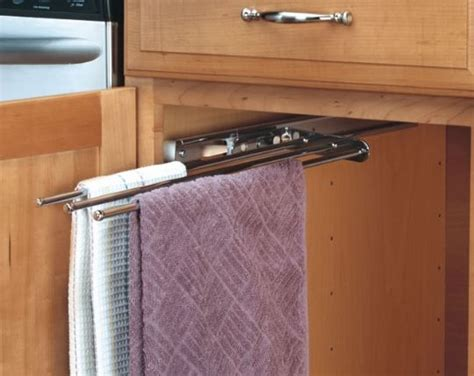 sink towel rack organization