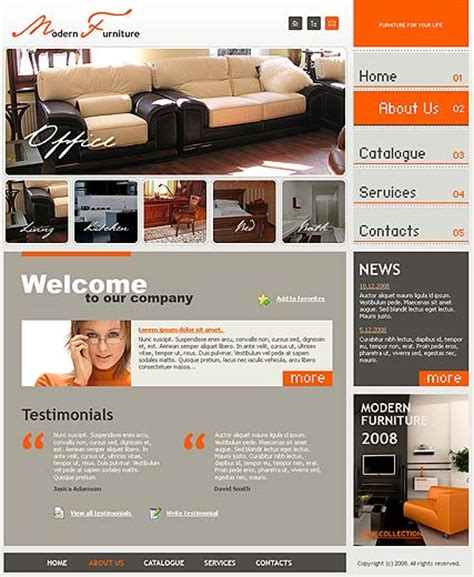 modern furniture website template id 300110099 from