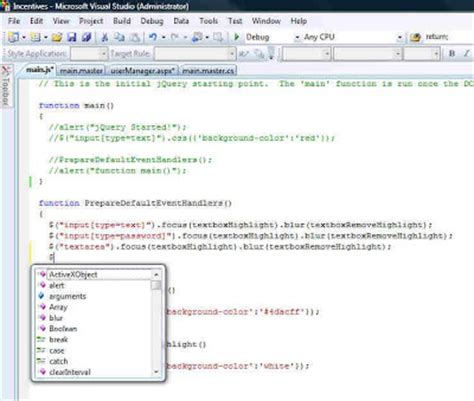 tutorial javascript external mwtech how to get jquery intellisense working with vs2008