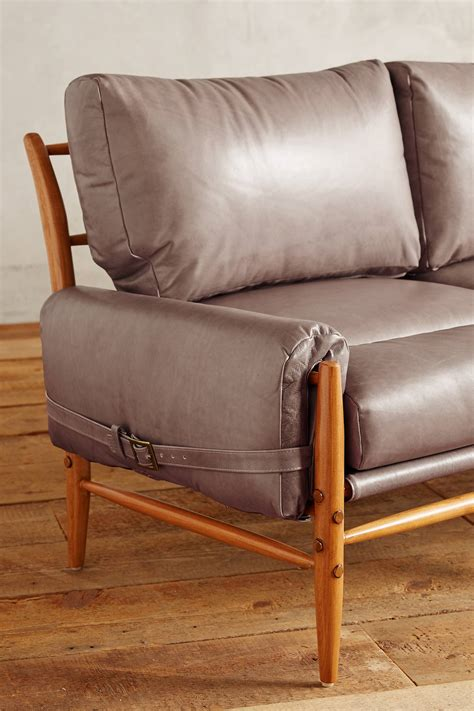 anthropologie leather couch leather rhys sofa anthropologie