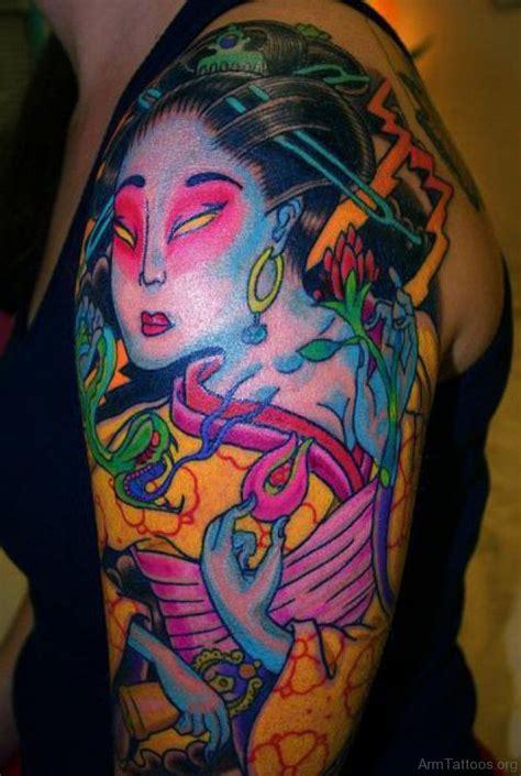 geisha girl tattoo 74 geisha tattoos on arm