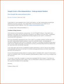 Cover Letter For Letter Of Recommendation by Sle Letter Of Recommendation For High School Student