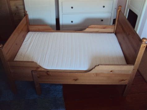 Extendable Bed by Sundvik Extendable Bed With Matress Solid Pine For