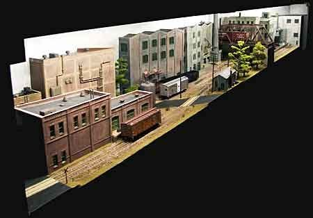 micro layout scrapbook quot mason s bridge quot micro layout model trains pinterest