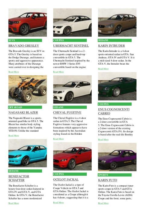 Garage List by Gta 5 Cars List