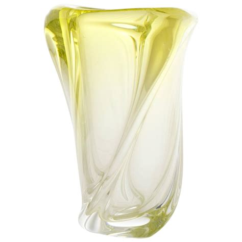 Murano Glass Vases Vintage by Vintage Handblown Murano Ombr 233 Citron Glass Vase For Sale At 1stdibs