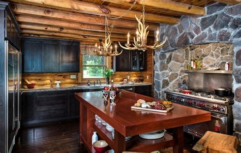 log cabin kitchen black cabinets log cabin furniture ideas how to choose the right pieces