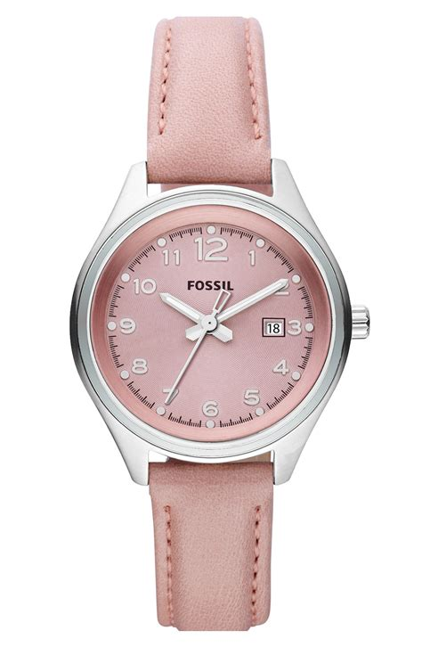 Fossil Pink fossil flight leather in pink guava lyst