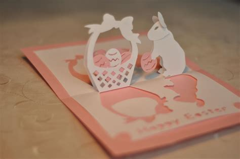 templates for pop up cards easter bunny and basket pop up card template creative