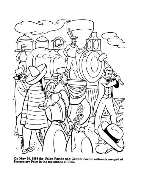coloring page railcar transcontinental railroad coloring page coloring pages