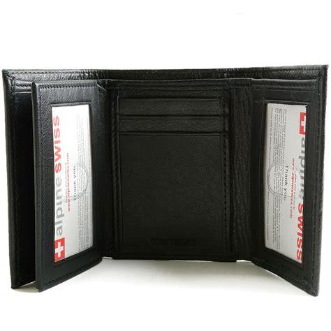 Walet 2 In 2 alpine swiss rfid blocking mens wallet capacity multi id card slot trifold