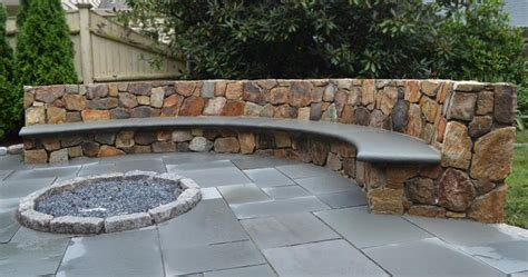 stone patio bench design 26 awesome stone patio designs for your home page 4 of 5