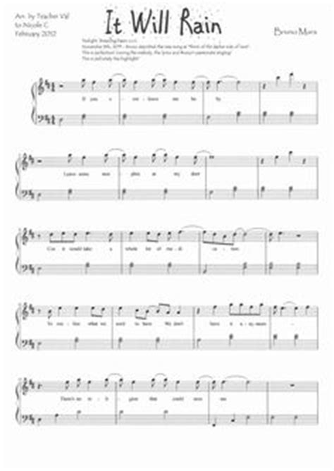 download mp3 song bruno mars it will rain 1000 images about piano music sheets on pinterest free