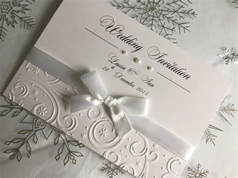 Handmade Invitations Uk - sle embossed wedding or evening invitations handmade