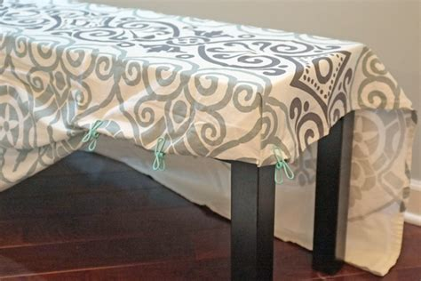 how to cover a bench with fabric easy bench slipcover teal and lime by jackie hernandez