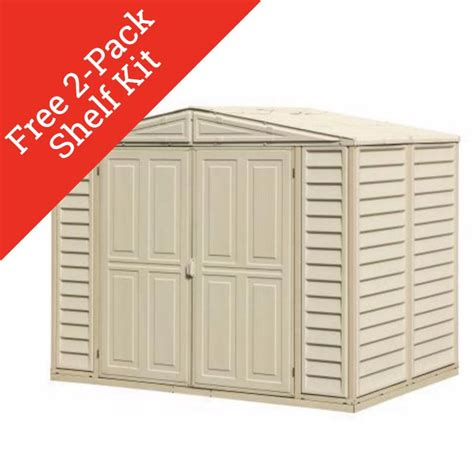 Sheds On Sale Free Shipping by Duramax Duramate 8x6 Vinyl Shed With Foundation On Sale