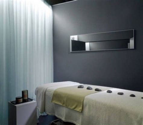 spa room therapy room grey studio decor