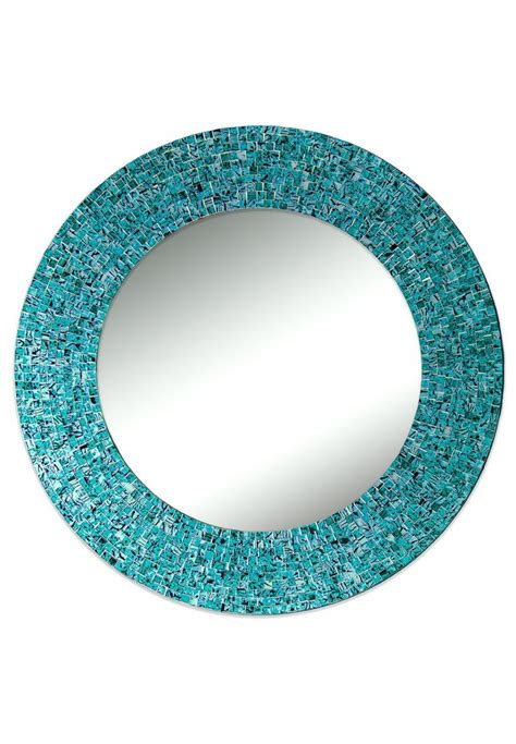 Handmade Mirror - buy 24 quot turquoise handmade decorative glass mosaic wall