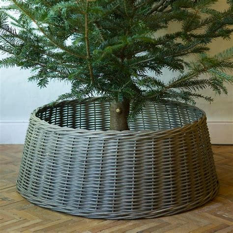 michaels christmas tree basket base wicker basket tree skirt tree skirts wicker and baskets