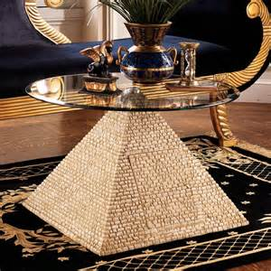 Pyramid Coffee Table Design Toscano Ky4022 Great Pyramid Of Giza Sculptural Glass Topped Table Atg Stores