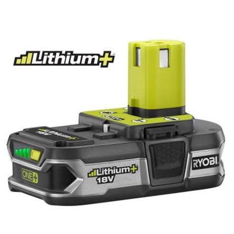 Home Depot Batteries Ryobi 18 Volt One Compact Lithium Battery P107 The