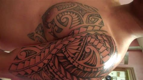 poly tribal tattoo lando s poly tribal style freehand island chest and arm