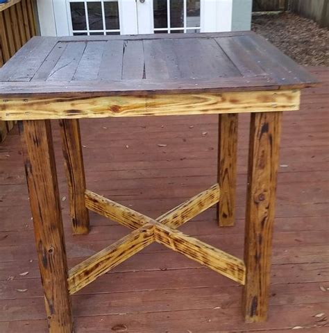 bar top kitchen tables pallet high top bar table pub table by